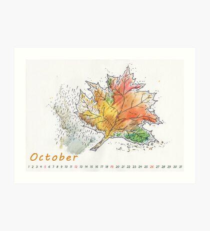 October) Art Print