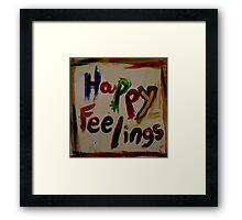 happy feelings Framed Print