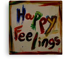happy feelings Canvas Print