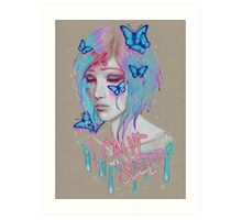 i cant sleep Art Print