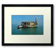 US Aircraft Carrier Framed Print