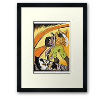 The Swords of Flame Framed Print