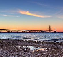 Mackinac Bridge Dusk by Megan Noble