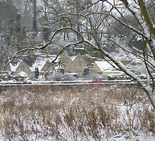 Bibury In The Snow by Sue Gurney