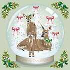 Snow globe deer by Dawn  Dudek