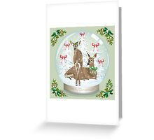 Snow globe deer Greeting Card