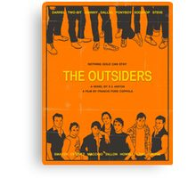 The Outsiders Orange Canvas Print