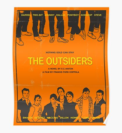 The Outsiders Orange Poster