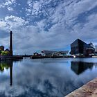 Albert Dock reflections by inkedsandra