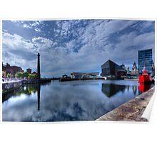 Albert Dock reflections Poster
