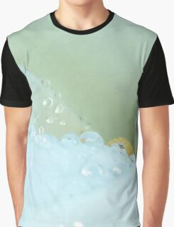 Abstract Angle Of A Calla Lily Flower With Dew And Aqua Graphic T-Shirt