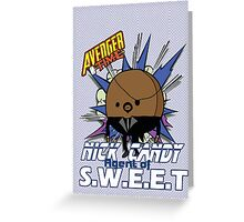 Avenger Time - Nick Candy Agent of S.W.E.E.T Greeting Card