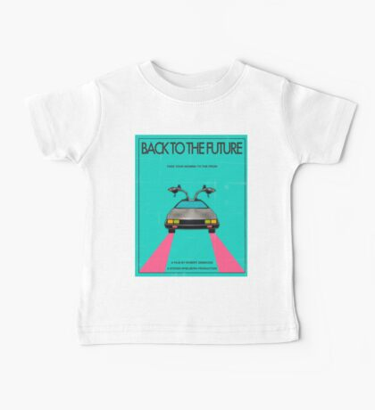 Back To The Future Blue Baby Tee
