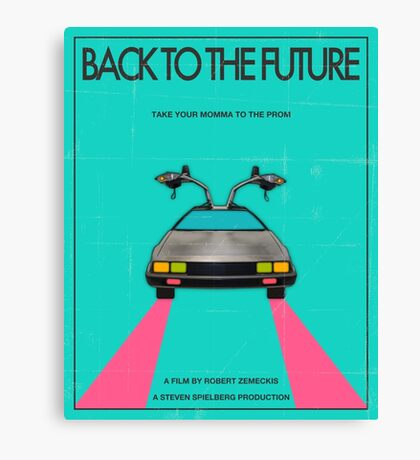 Back To The Future Blue Canvas Print