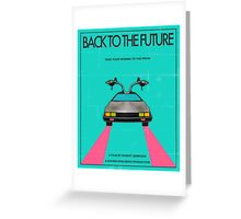 Back To The Future Blue Greeting Card