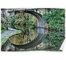Hebden Bridge Reflections Poster