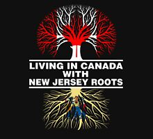 LIVING IN CANADA WITH NEW JERSEY ROOTS Women's Relaxed Fit T-Shirt
