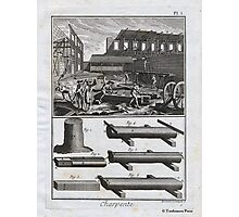 Diderot: 18th Century Engraving - The Carpenter & Sawyer Photographic Print