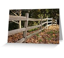 Renfrew Ravine - Rustic fence  Greeting Card