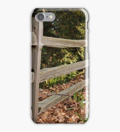Renfrew Ravine - Rustic fence  iPhone Case/Skin