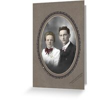 Colorized 1900s Cabinet Card Greeting Card
