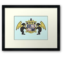 Crest of Columbia Framed Print