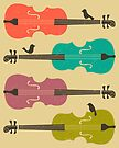 BIRDS ON A CELLO STRING by JazzberryBlue