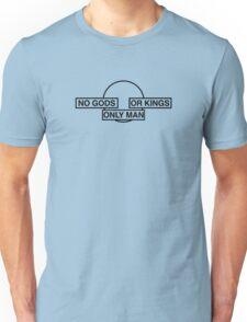 Only man (Black Text) Unisex T-Shirt