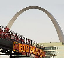 Busch Stadium & the Arch by caljaysoc