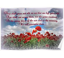 We will remember them... Poster