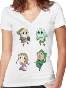 Legend of Zelda Women's Fitted V-Neck T-Shirt