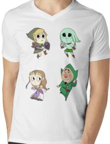 Legend of Zelda Mens V-Neck T-Shirt