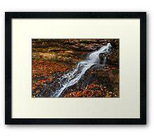 Cascading Autumn Waterfall Framed Print