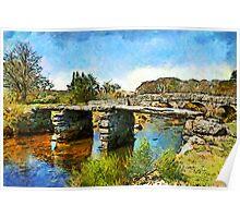 Postbridge Clapper Bridge, Dartmoor Poster