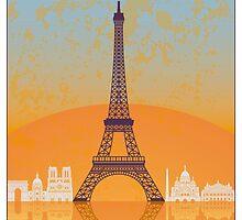 Paris vintage poster by paulrommer