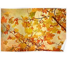 Autumn Leaves with Texture Effect Poster