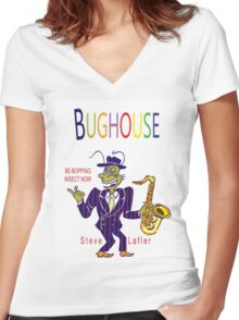 Bughouse T Women's Fitted V-Neck T-Shirt