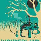 ALICE IN WONDERLAND TRAVEL POSTER by JazzberryBlue