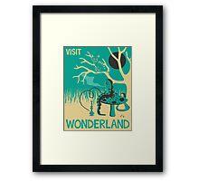 ALICE IN WONDERLAND TRAVEL POSTER Framed Print