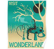 ALICE IN WONDERLAND TRAVEL POSTER Poster