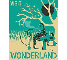 ALICE IN WONDERLAND TRAVEL POSTER Photographic Print