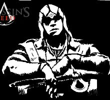 Connor Kenway Graphic (Black&White) by TrueProtector