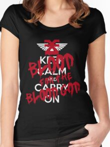 Khorne Graffiti Women's Fitted Scoop T-Shirt