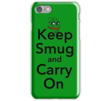 Keep Smug and Carry On iPhone Case/Skin