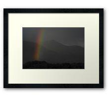 Grayscale rainbow Framed Print
