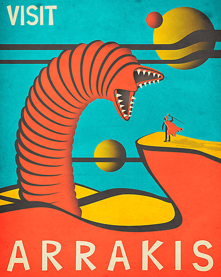 Arrakis Travel Poster (vintage version) by JazzberryBlue