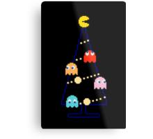 Arcade Retro Christmas Tree of Old Skool Gaming Metal Print