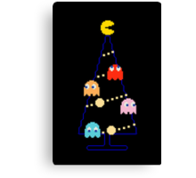 Arcade Retro Christmas Tree of Old Skool Gaming Canvas Print