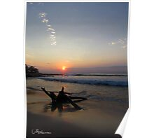 Sunset, Manzanillo Bay  Mexico Poster