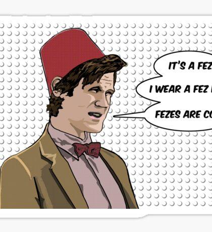 Cool Fez Sticker